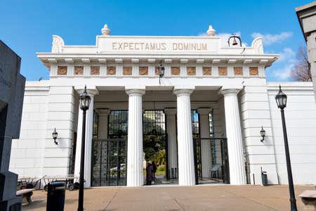 Historic cemetery Recoleta, Buenos Aires Argentine Editorial