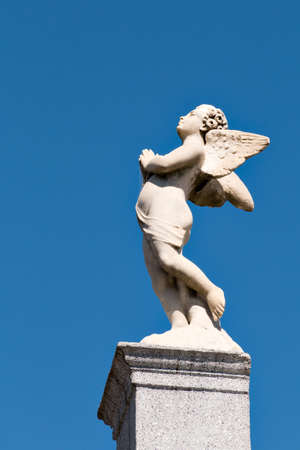 aires: Sculpture of an angel in the historic cemetery Recoleta, Buenos Aires Argentine