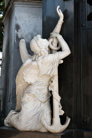 angel cemetery: Angel of the historic cemetery Recoleta, Buenos Aires Argentine