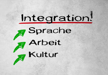Integration, language, workand culture written on the wall