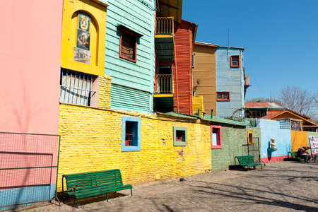 Colorful neighborhood La Boca, Buenos Aires Argentine Standard-Bild