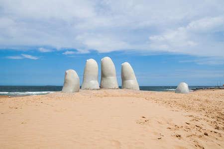 sculpture: Hand sculpture, a symbol of Punta del Este, Uruguay