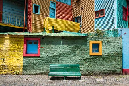 la boca: Colorful walls in the neighborhood La Boca, Buenos Aires Argentine Stock Photo