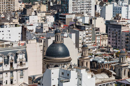 live work city: Look at some of roofs and cupola, Buenos Aires Argentine