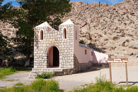 lima province: Historic Chapel Santa Rosa de Lima in the Andes Salta, Jujuy in northern Argentina