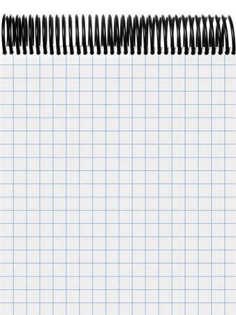 spiral binding: Plaid white notepad with black spiral binding Stock Photo