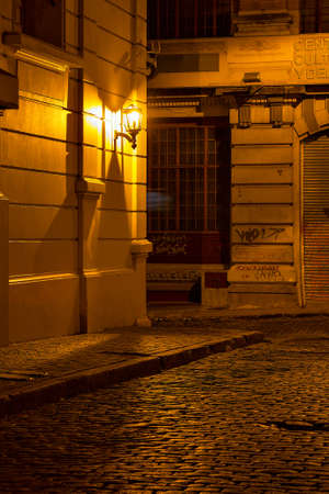 live work city: Street at night in San Telmo, Buenos Aires Argentine
