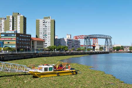 la boca: View over the river in the neighborhood La Boca, Buenos Aires Argentine
