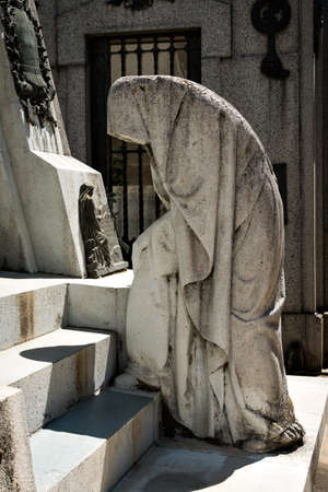 evita: Historic cemetery Recoleta with many sculptures, Buenos Aires Argentine Stock Photo