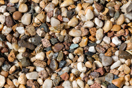 sized: Different sized colorful pebble as background structure