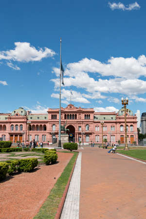 govern: Casa Rosada (Pink house) seat of government of Argentina, Buenos Aires Argentina Stock Photo