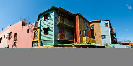 la boca: Panorama of the historic colorful neighborhood La Boca, Buenos Aires Argentine