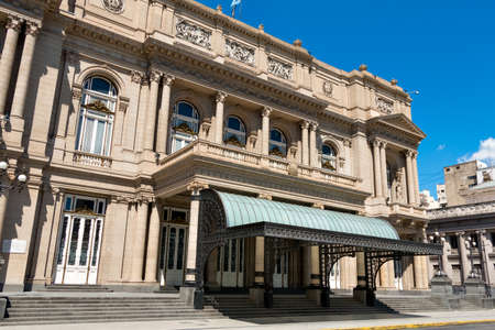 Teatro Colón (Columbus Theatre) symphony hall in the district San Nicoás of Buenos Aires Argentine Editorial