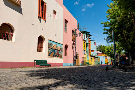 Historic colorful neighborhood La Boca, Buenos Aires Argentine