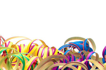 serpentinas: Colorful streamers, for party decoration or as an invitation card
