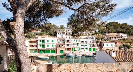 Idyllic fishing village Port De Cala Figuera, Mallorca Spain