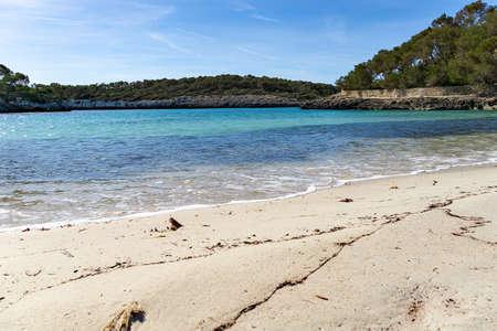 Playa de S'Amarador bathing beach, beach with blue turquoise water, Mallorca Spain