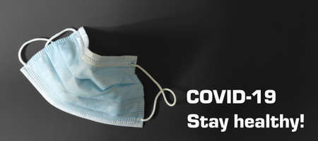 Medical surgical mask for virus protection; COVID-19, flu Stock Photo