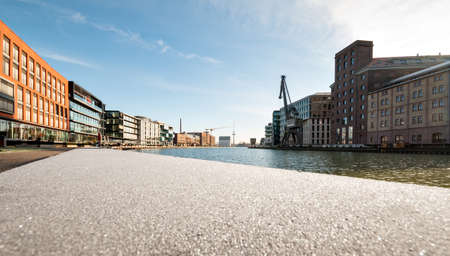 Creative quay, the trendy district at the port of Münster in Westphalia