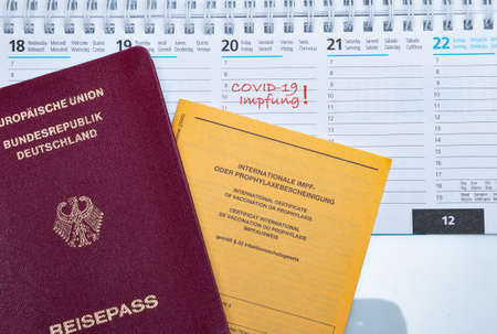 Covid-19, PCR test with passport and vaccination certificate,