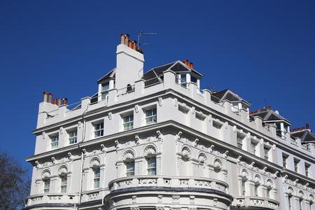 Modern facade on a sunny day
