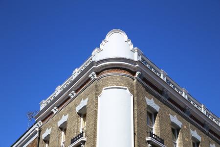 residential construction: Modern stone facade on a sunny day