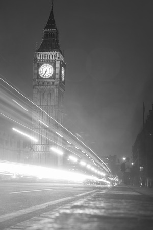 The Houses of Parliament and with Big Ben at night Stock Photo