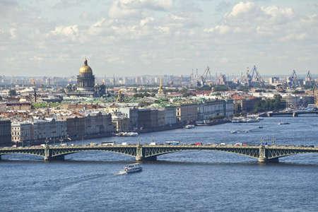 neva: Saint-Petersburg - view on Neva river Stock Photo