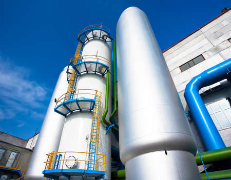 Air-separating factory for producing Industrial gases Stock Photo