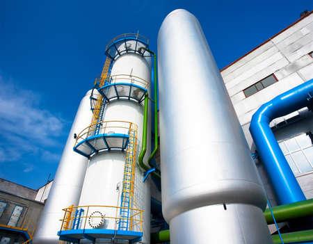 ammonia: Aire separar f�brica para la producci�n de gases industriales Foto de archivo