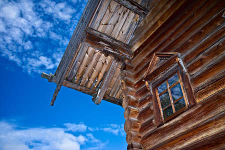 Old Russian northen log house