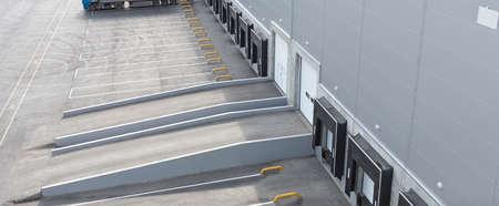 Big distribution warehouse with gates for loading goods 版權商用圖片