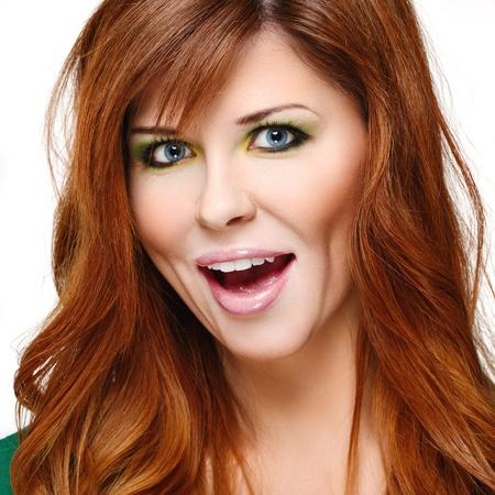 Beautiful woman with red hair Фото со стока - 17411908