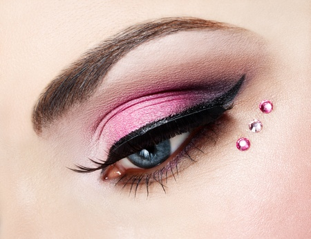 Eye close up with beautiful make-up  photo
