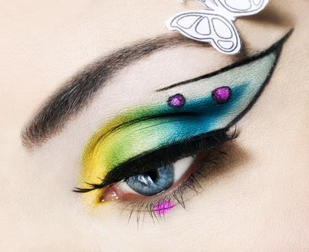 cilia: Eye close up with beautiful make-up