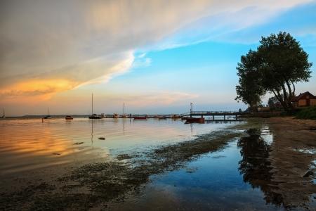 Beautiful bay with a marina,sea,vacation photo