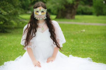Mysterious woman in mask photo