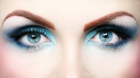 Beautiful eye makeup close up
