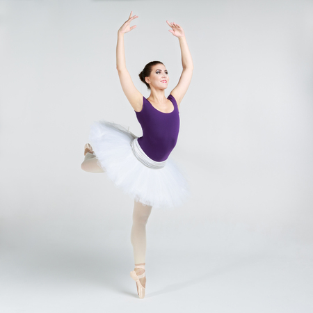 Beautiful young ballet dancer photo