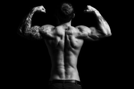 Muscular man in the studio