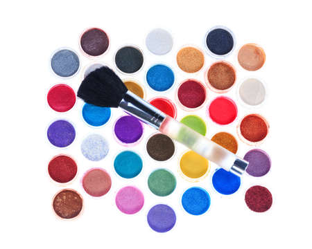 make up brushes: Make up brushes and cosmetic powder
