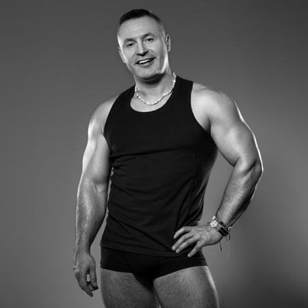 Handsome muscular man in studio