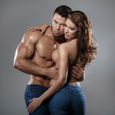 naked young woman: Passion woman and man  Stock Photo