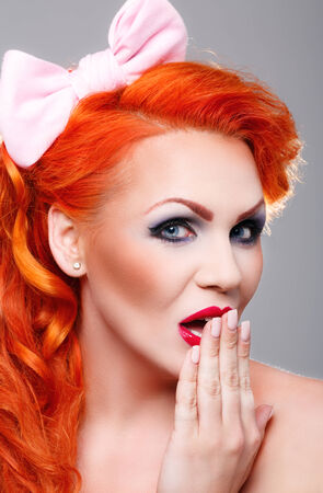 Beautiful woman with red hair photo