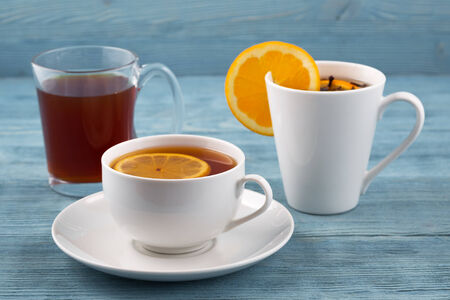 Tea in various dishes Stock Photo - 35711031