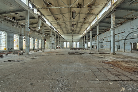 enginery: Old destroyed an abandoned factory.Natural high dynamic range HDR Stock Photo
