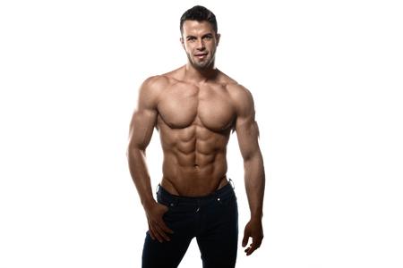 Sexy man in studio