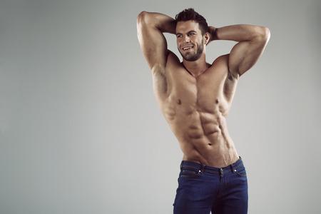 naked black men: Sexy man in studio