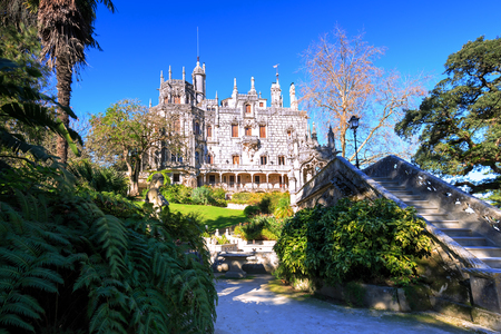 high dynamic range: Quinta da Regaleira in Sintra, Portugal. HDR- high dynamic range