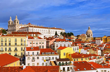 high dynamic range: View of Lisbon, Portugal. HDR - high dynamic range